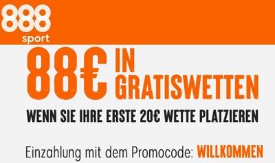 888 Bonus gratiswette