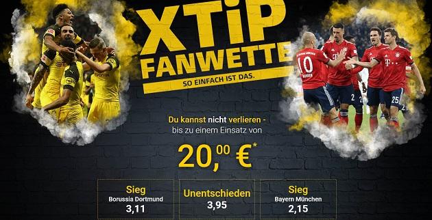 BVB vs. Bayern Fanwette bei XTiP