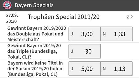 Bayern Triple Wetten