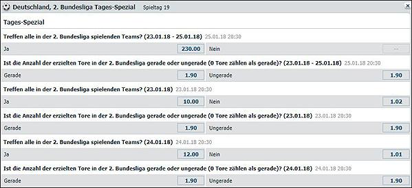 2. Bundesliga Liga Spezialwetten bei Bet-at-Home