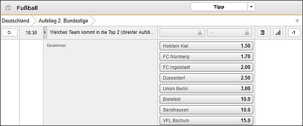 Bet3000 Bundesliga Wetten Aufsteiger 2. Liga