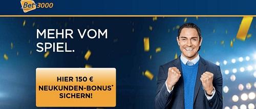 Bet3000 neuer Bonus