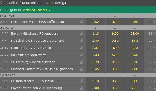 Bet365 Wetten Bundesliga