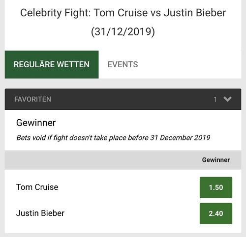 Bieber Cruise Kampf