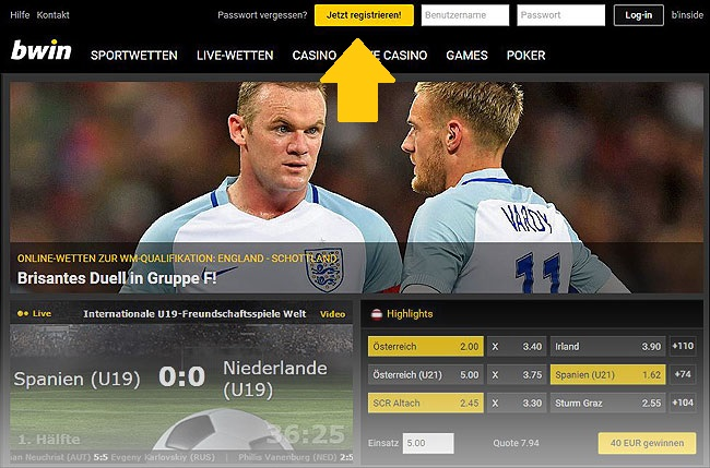 Website Bwin