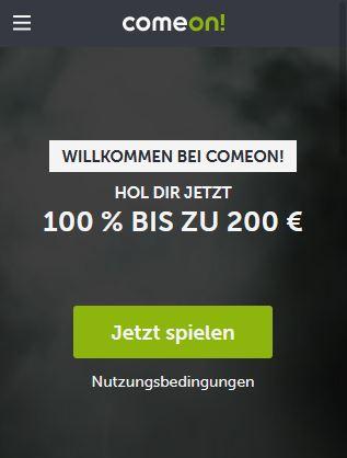 Comeon Neukundenbonus