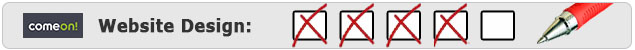 ComeOn Website Design Bewertung