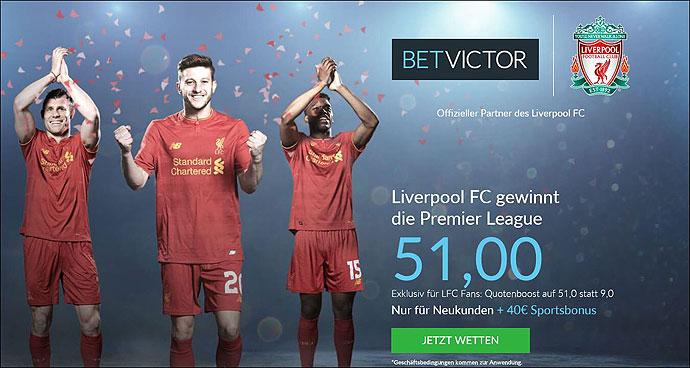 Liverpool-Meistertitel-Quotenboost-Betvictor