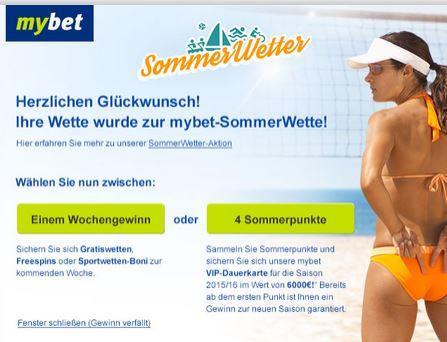 Mybet-SommerWetter-Punkte