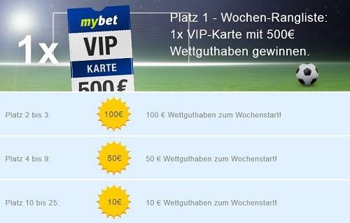Mybet-Sommerwetter-Wochenpreise