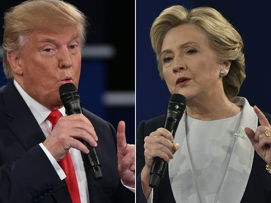 Trump vs. Clinton - / AFP PHOTO / Paul J. Richards - 20161010_PD0255