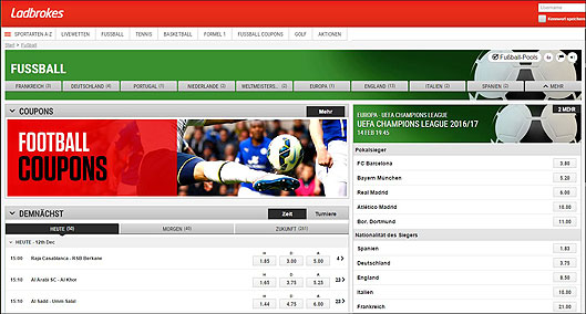 Ladbrokes Fussballwetten
