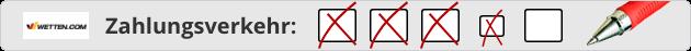 Wetten.com Zahlungsverkehr