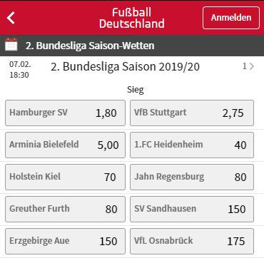 Stuttgart HSV Meister Wetten