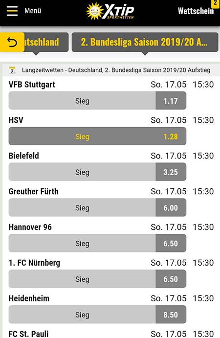 HSV Aufstieg Wetten