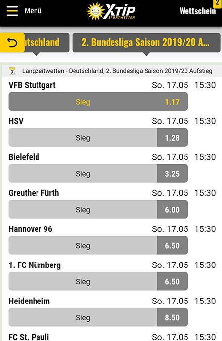 Stuttgart Aufstieg Wetten