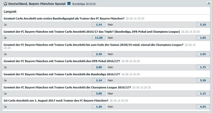 Bayern Spezial Wetten bet-at-home
