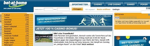Bet-at-home Website