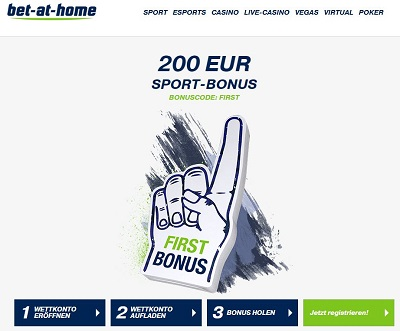bet-at-home Willkommensbonus