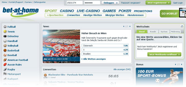 Website von Bet-at-home