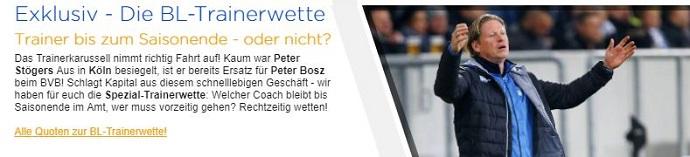 Bundesliga Trainer Wetten bei Bet3000