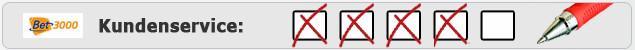 Testergebnis Kundenservice von Bet3000 auf Wettanbieter.de
