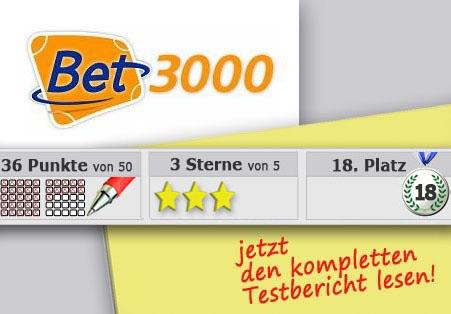Wettanbieter Bet3000 Startseite