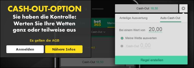 Bet365 Auto-Cash-Out