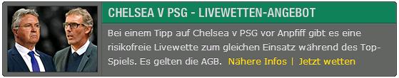 Bet365 Chelsea - PSG Cashback
