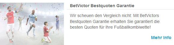 BetVictor Bestquoten Garantie