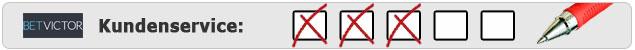 Testergebnis Kundenservice von Betvictor auf Wettanbieter.de