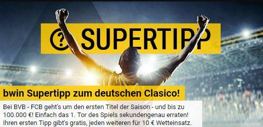 Bwin Supertipp DFL Super Cup Finale 2017 Gewinnspiel