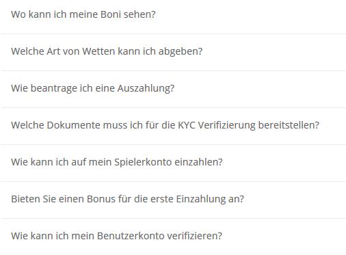 FAQs vom Wettanbieter Neo.bet