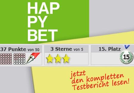 Wettanbieter Happybet Startseite
