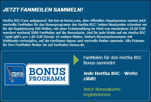 Bet-at-home Fanmeilen