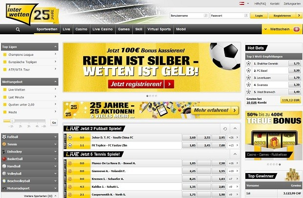 Website Interwetten
