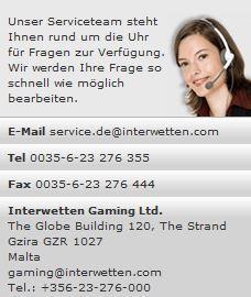 Interwetten Kundenservice