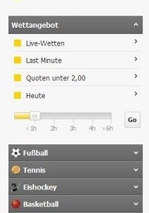 Interwetten Wetten – Website Design und Navigation