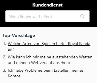 Royal Panda Livewetten