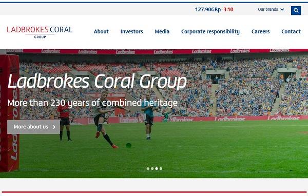 Unternehmensinfo auf der Website von Ladbrokes Sportwetten