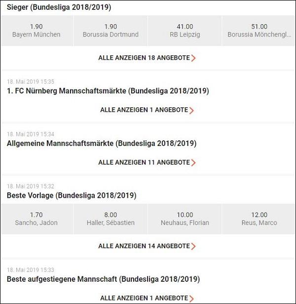 LeoVegas Bundesliga Langzeitwetten