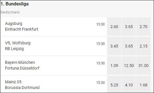LeoVegas Bundesliga Wettquoten