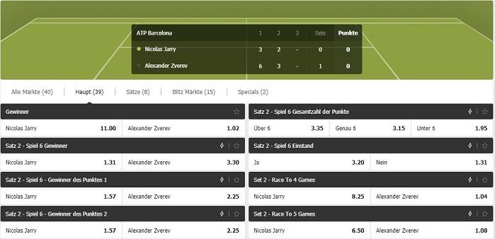 MoPlay Tenniswetten - Livewetten
