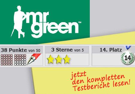 Wettanbieter MR green Startseite