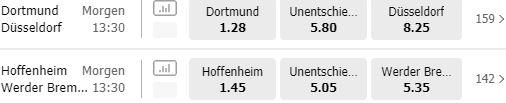 Bundesliga Quoten bei MoPlay