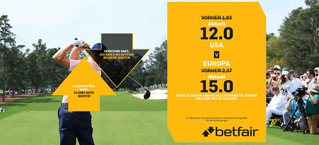 Ryder Cup 2018 Quoten Boost Betfair