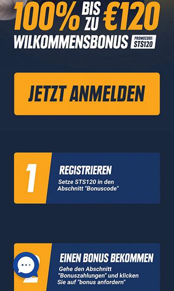 STSbet Registrierung