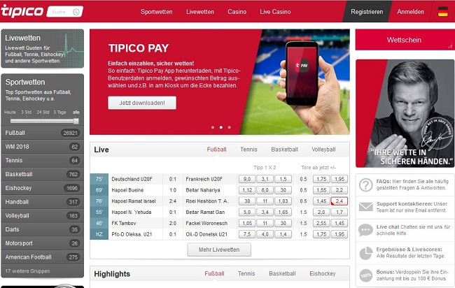 Tipico Website