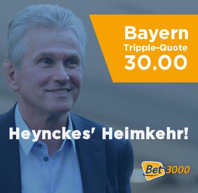 Bet3000 Heynckes Triple Bayern Wette