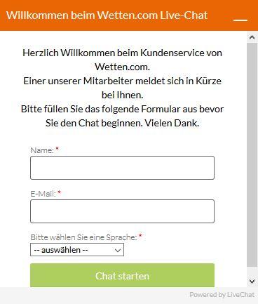 Kundendienst vom Wettanbieter Wetten.com